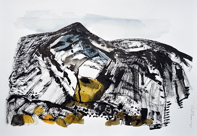 Sardinia,mountains,drawing,art,
