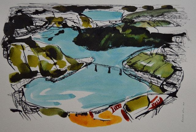 Vouglans,France,Jura,Drawing
