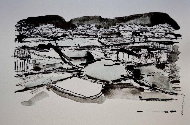 mai chau,rice fields,vietnam,drawing,valley