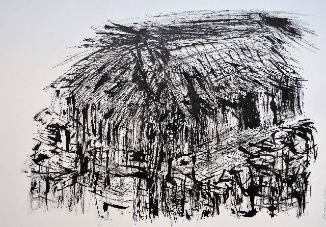 mai chau,rice fields,vietnam,drawing,valley,hut,riet
